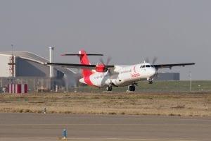ATR 72-600 Avian MSN 1343 run, take off and landing