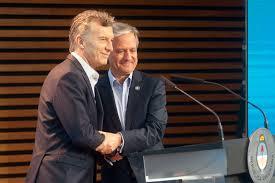El Presidente Macri y el ministro de Modernización, Andrés Ibarra.