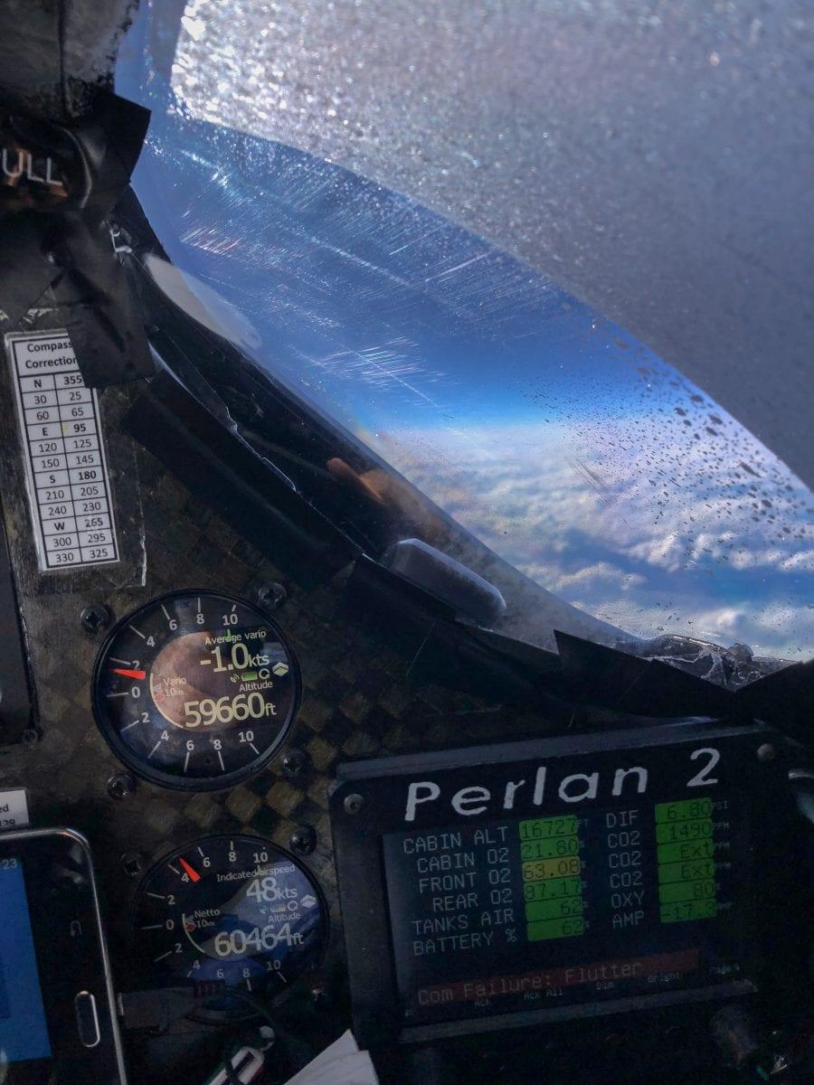 Registro de altitud. Foto Proyecto Perlan 2.